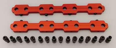 Dart 64110002 Rocker Arm Stud Girdle, 3/8-24 in Thread Studs, Polylocks, Aluminum, Natural, Dart Head, Small Block Chevy, Kit
