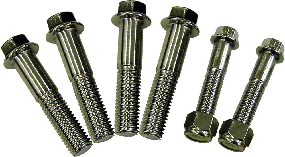 Detroit Speed 010801 Body Mount Fastener Kit, Hex Head, Stainless, Natural, GM F-Body 1967-81, Kit
