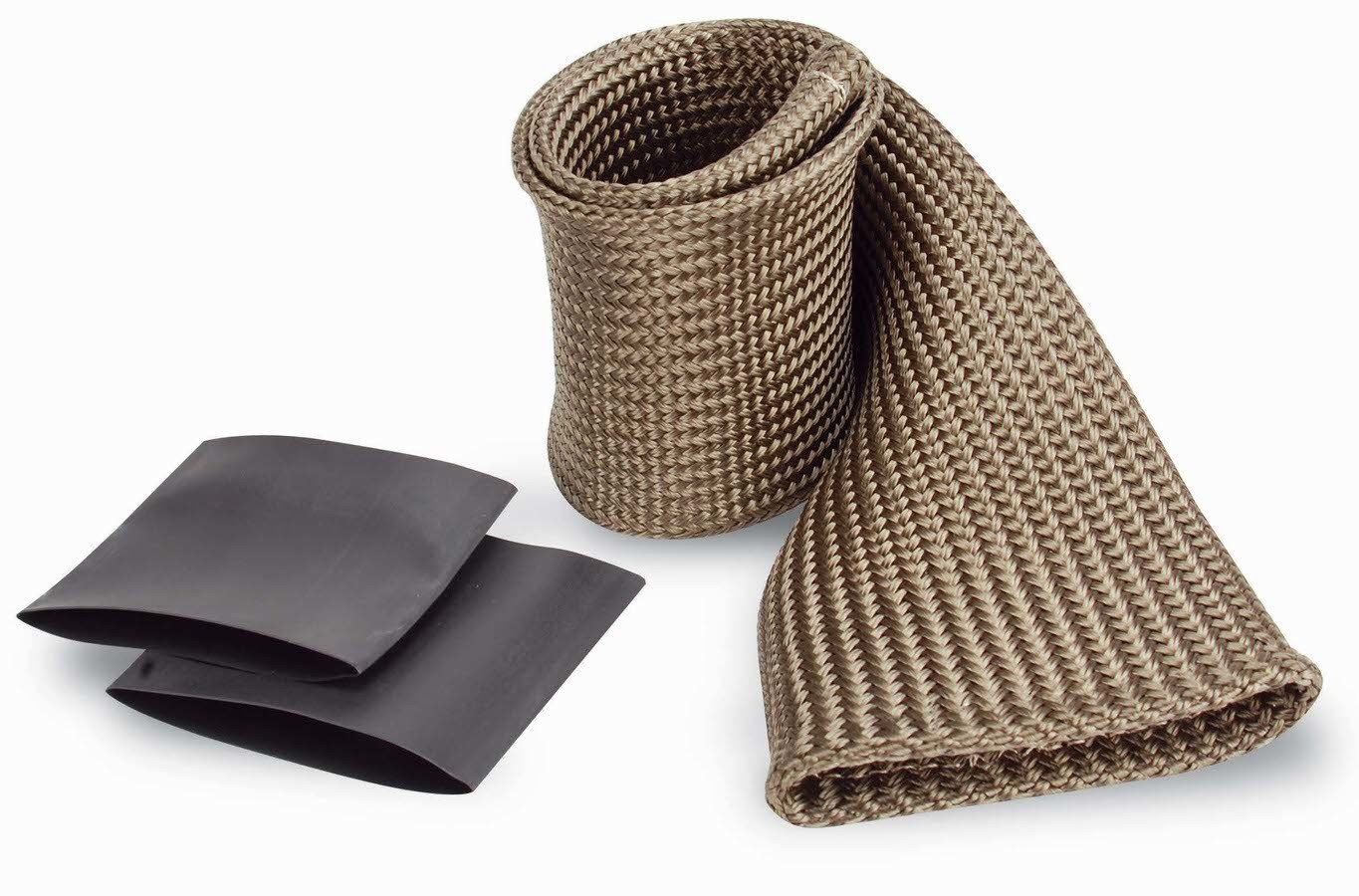 Design Engineering 010482 Hose and Wire Sleeve, Protect-A-Sleeve, 2 in ID, 3 ft, Woven Titanium, Silver, Each