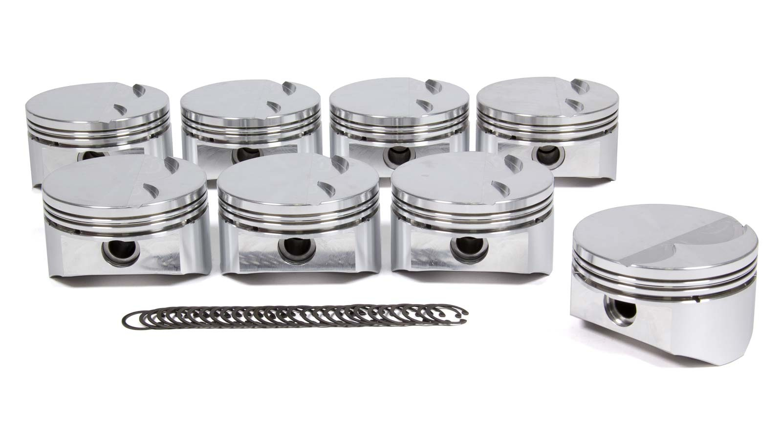 DSS Racing 1820BSX-4030 Piston, SX Series, Forged, 4.030 in Bore, 1.5 x 1.5 x 3.0 mm Ring Grooves, Minus 5.0 cc, GM LS-Series, Set of 8