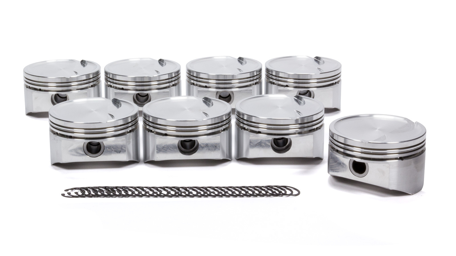 DSS Racing 1823BSX-4000 Piston, SX Series, Forged, 4.000 in Bore, 1.5 x 1.5 x 3.0 mm Ring Grooves, Minus 15.0 cc, GM LS-Series, Set of 8