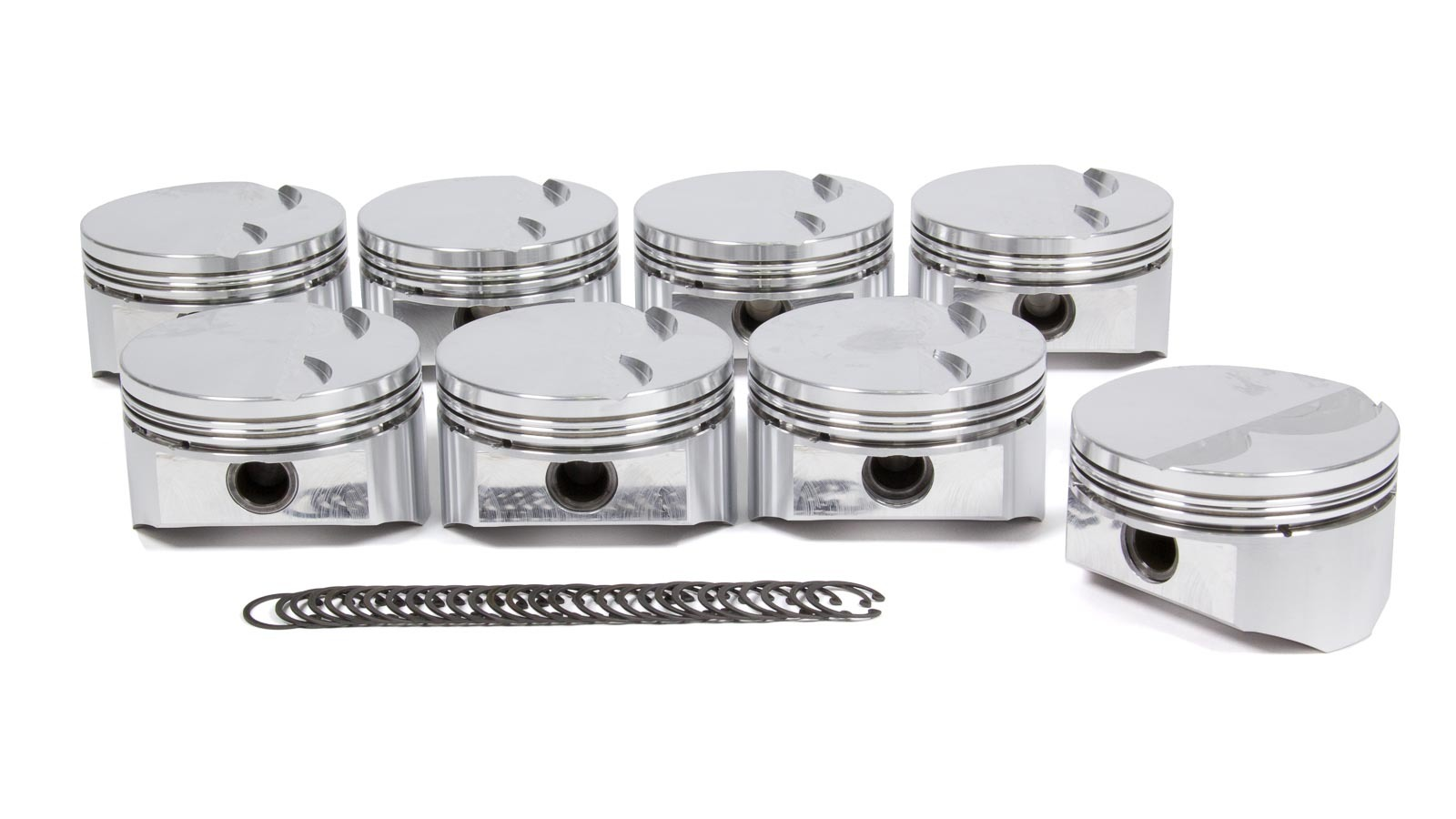 DSS Racing 1830BSX-4000 Piston, SX Series, Forged, 4.000 in Bore, 1.5 x 1.5 x 3.0 mm Ring Grooves, Minus 5.0 cc, GM LS-Series, Set of 8
