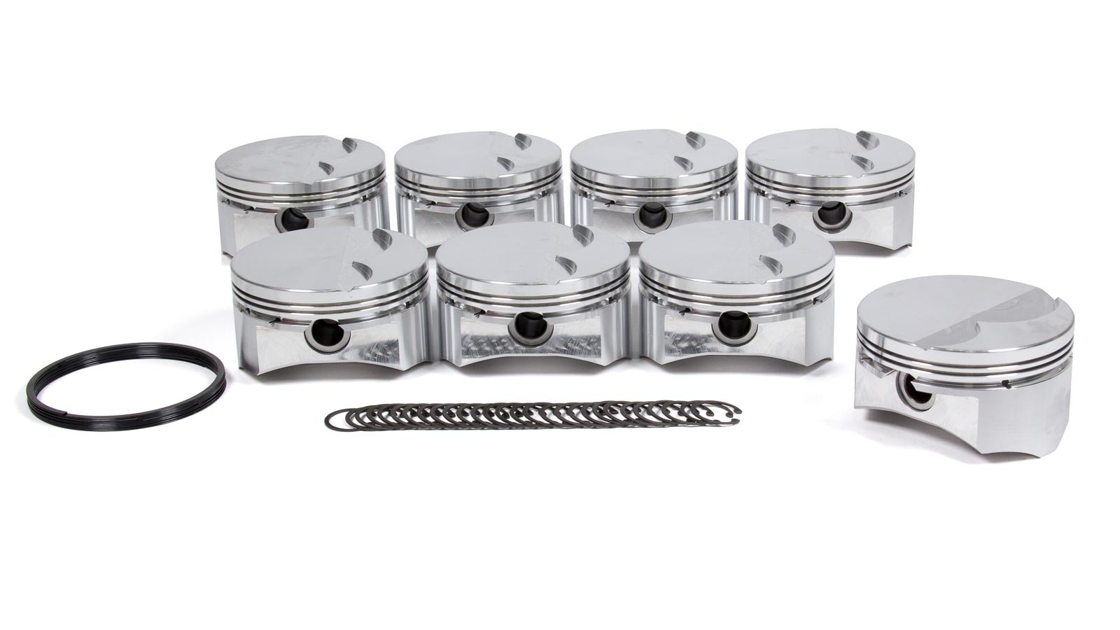 DSS Racing 1920BSX-4030 Piston, SX Series, Forged, 4.030 in Bore, 1.5 x 1.5 x 3.0 mm Ring Grooves, Minus 5.0 cc, GM LS-Series, Set of 8