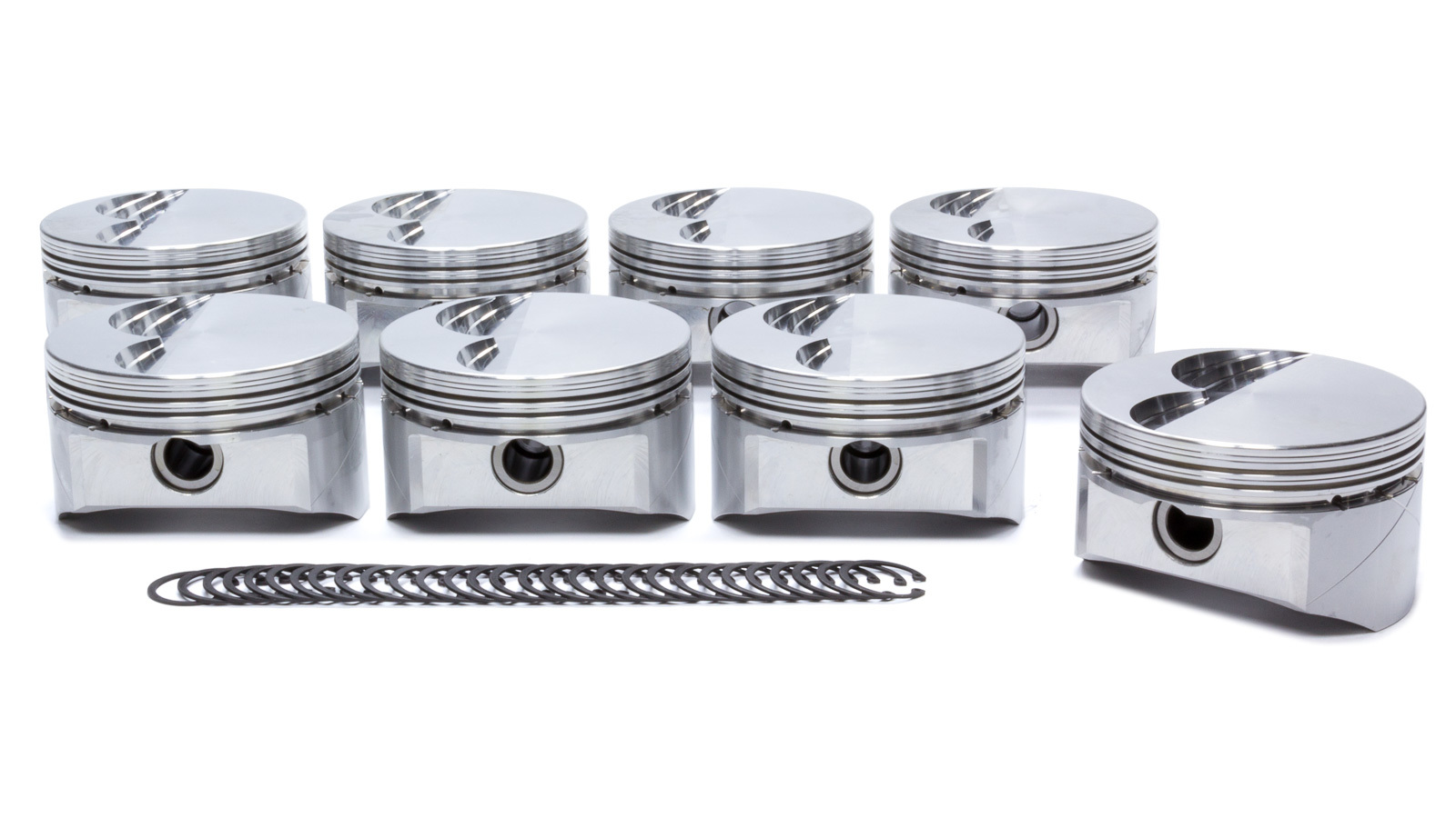 DSS Racing 4101X-4030 Piston, GSX Series, Forged, 4.030 in Bore, 1.5 x 1.5 x 4.0 mm Ring Grooves, Minus 3.0 cc, Small Block Ford, Set of 8