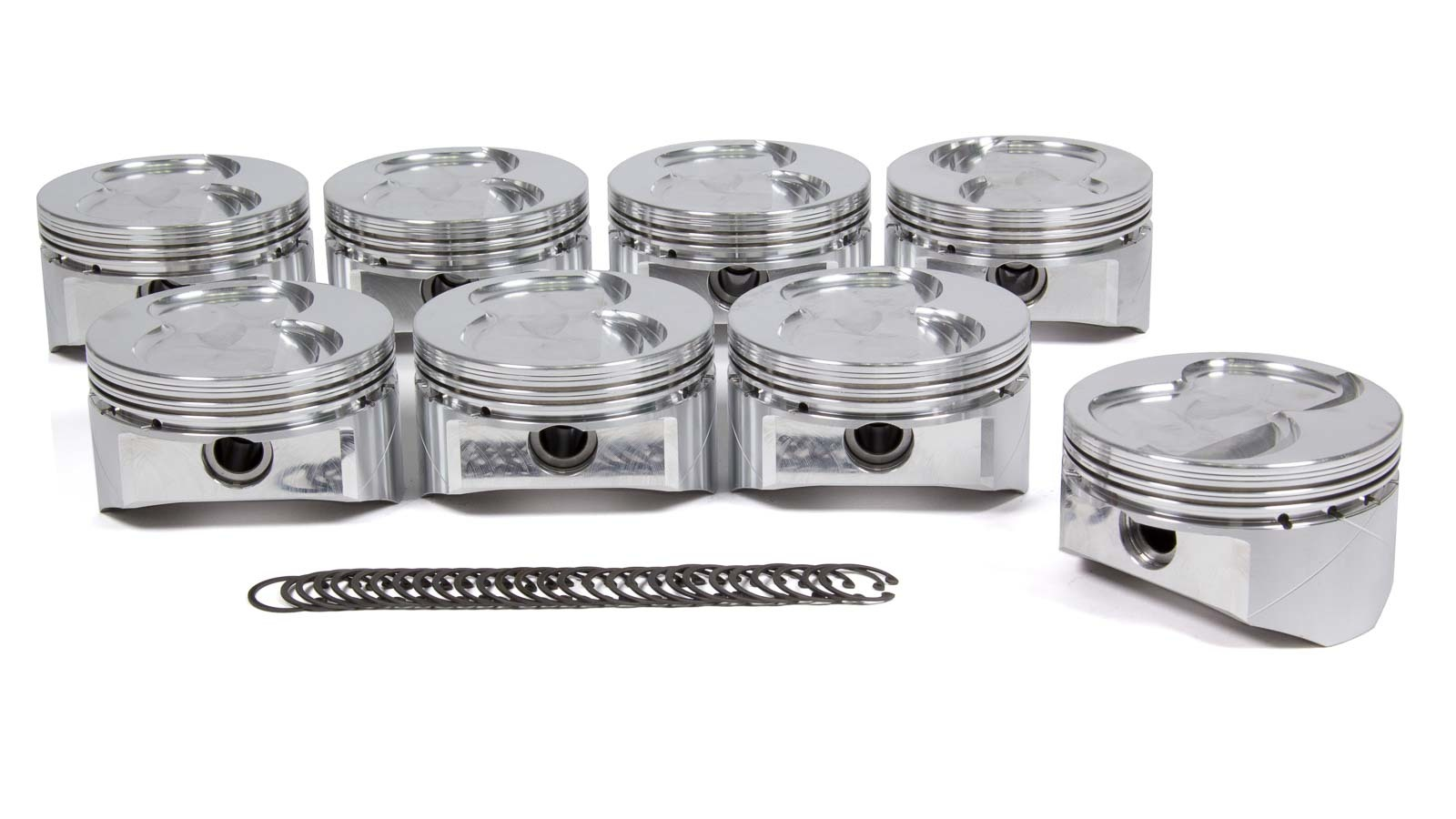 DSS Racing 4111X-4030 Piston, GSX Series, Forged, 4.030 in Bore, 1.5 x 1.5 x 4.0 mm Ring Grooves, Minus 13.0 cc, Small Block Ford, Set of 8