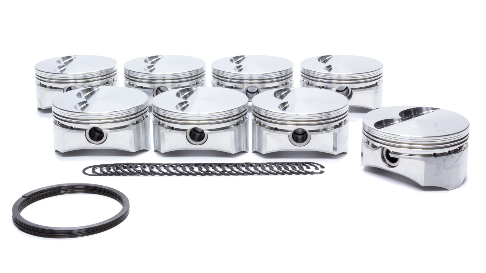 DSS Racing 4300X-4030 Piston, GSX Series, Forged, 4.030 in Bore, 1.5 x 1.5 x 4.0 mm Ring Grooves, Minus 3.0 cc, Small Block Ford, Set of 8