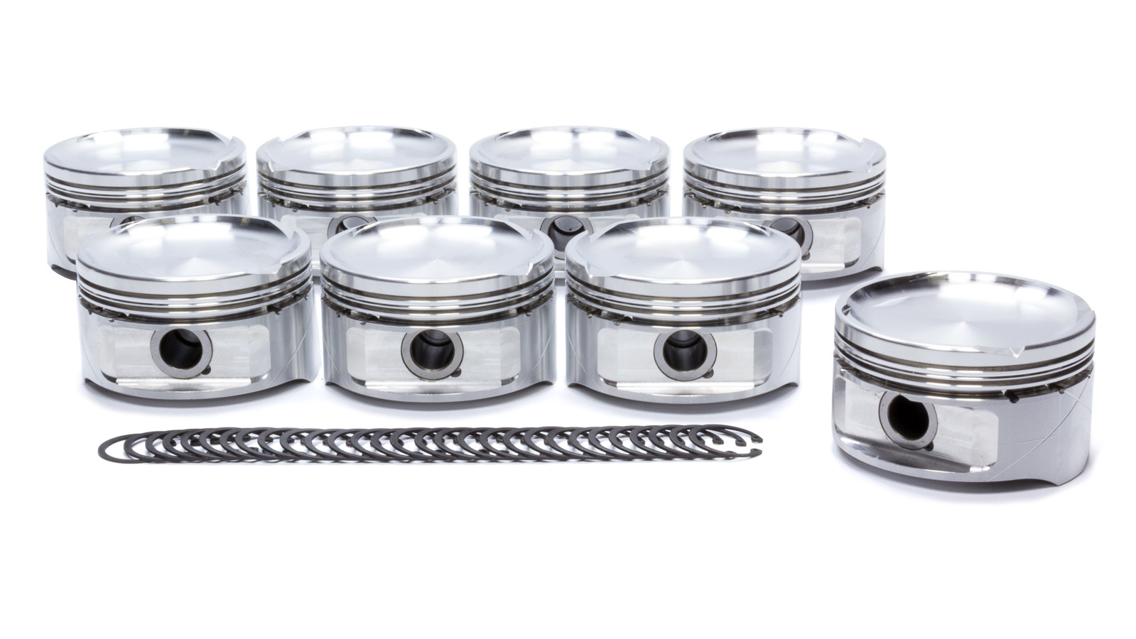 DSS Racing 4866X-3572 Piston, GSX-R Series, Forged, 3.572 in Bore, 1.5 x 1.5 x 3.0 mm Ring Grooves, Minus 24.0 cc, Ford Modular, Set of 8