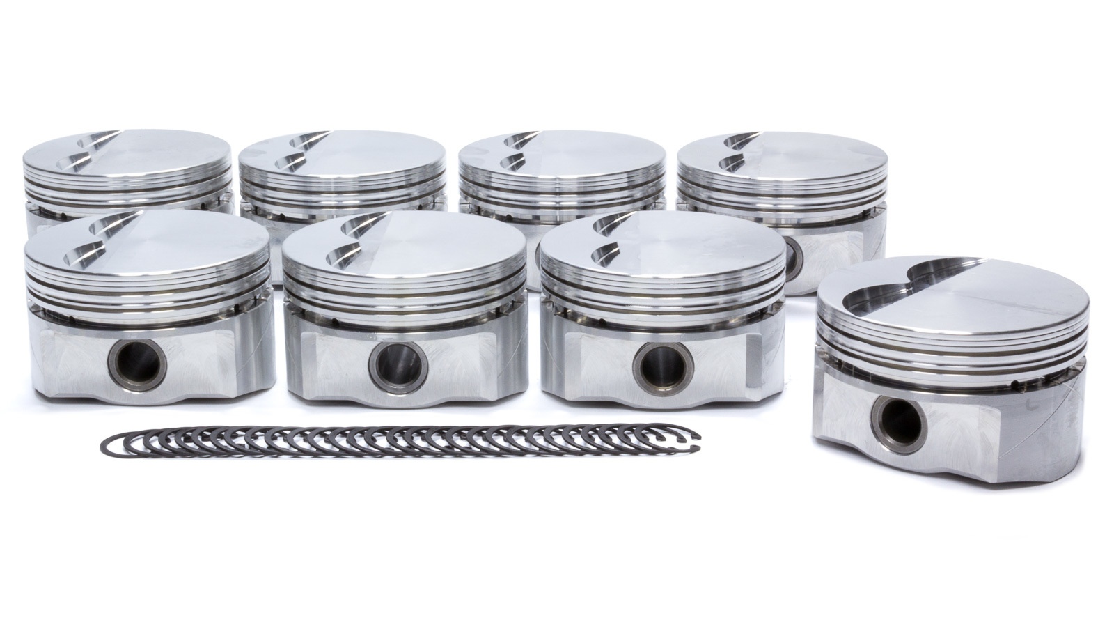 DSS Racing 6100CX-4100 Piston, GSX Series, Forged, 4.100 in Bore, 1/16 x 1/16 x 3/16 in Ring Grooves, Minus 5.0 cc, Pontiac V8, Set of 8