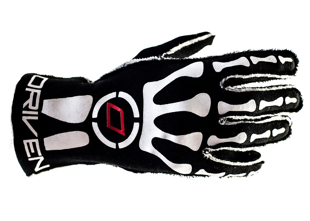 Driven Steering Wheels DRG0301MED Gloves, Driving, SFI 3.3/5, Double Layer, Nomex, Black / Red, Medium, Pair