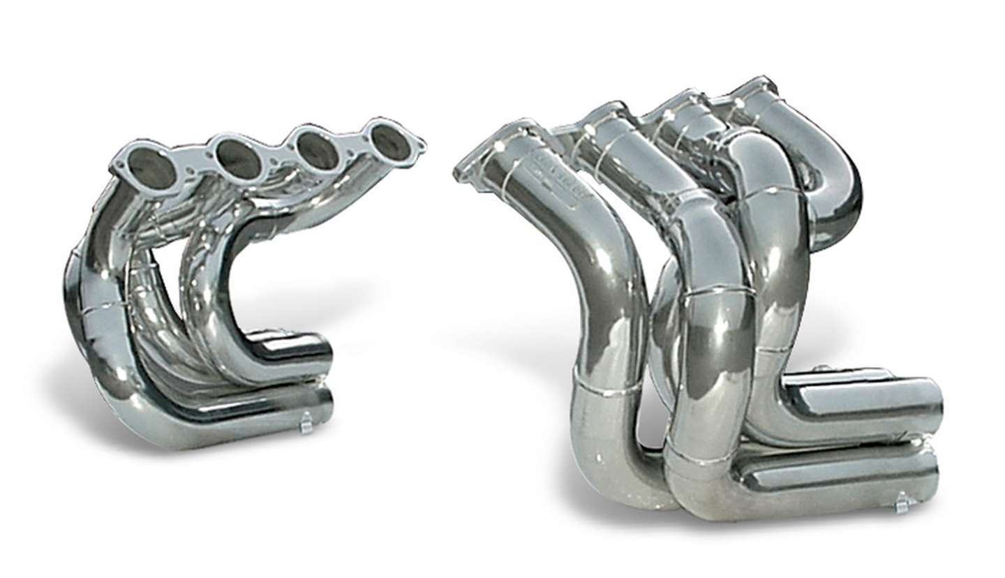 Dynatech 750-91410 Headers, Drag, 2-1/4 in Primary, Collector Required, Steel, Metallic Ceramic, Big Block Chevy, Strut Front / Dragster, Kit