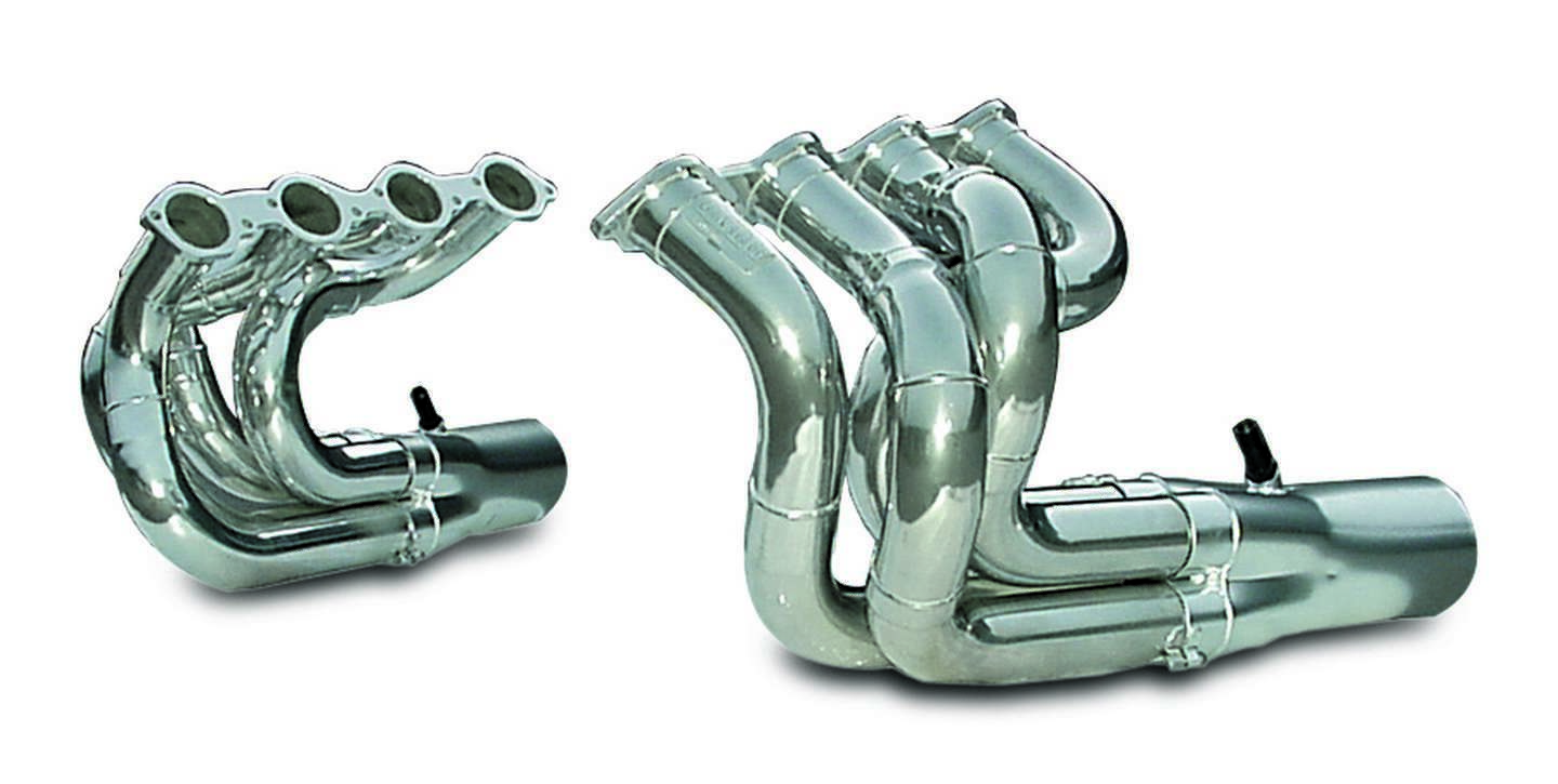 Dynatech 750-92410 Headers, Drag, 2-1/4 to 2-3/8 in Primary, Collector Required, Steel, Metallic Ceramic, Big Block Chevy, Strut Front / Dragster, Kit