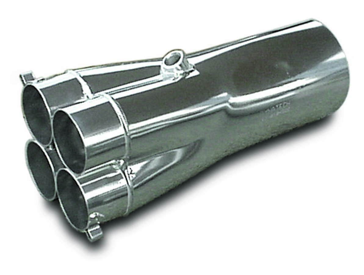 Dynatech 783-81246 Collector, Slip-On, 4 x 2-3/8 in Primary Tubes, 4-1/2 in Outlet, 12 in Long, Steel, Metallic Ceramic, Each