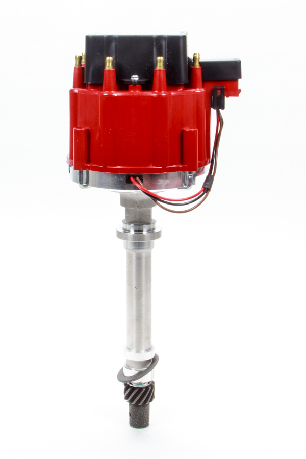 Performance Distributors 127212602RD Distributor, Circle Track, Magnetic Pickup, Mechanical Advance, HEI Style Terminal, Red, Chevy V8, Each