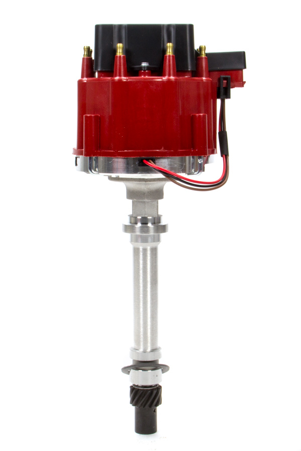 Performance Distributors 127212RD Distributor, Hall-Effect Pickup, Mechanical Advance, HEI Style Terminal, Red, Chevy V8, Each