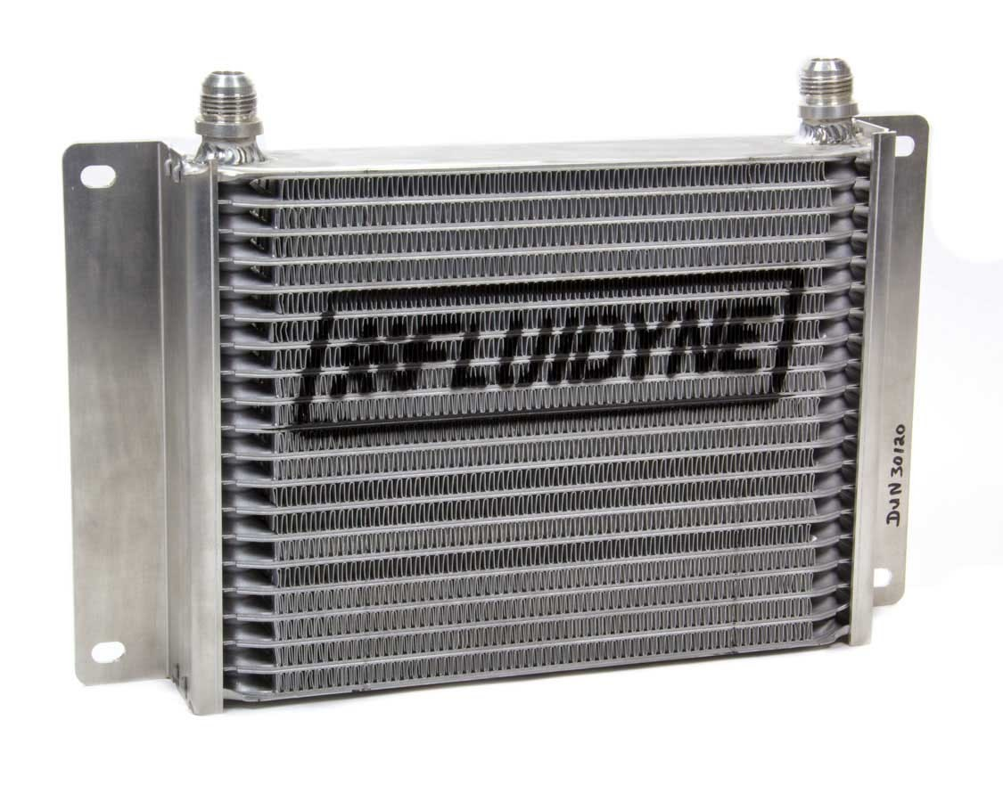 Fluidyne Performance 30120 Fluid Cooler, 13-7/8 x 9-3/16 x 2 in, Plate Type, 10 AN Male Inlet, 10 AN Male Outlet, Aluminum, Black, Universal, Each