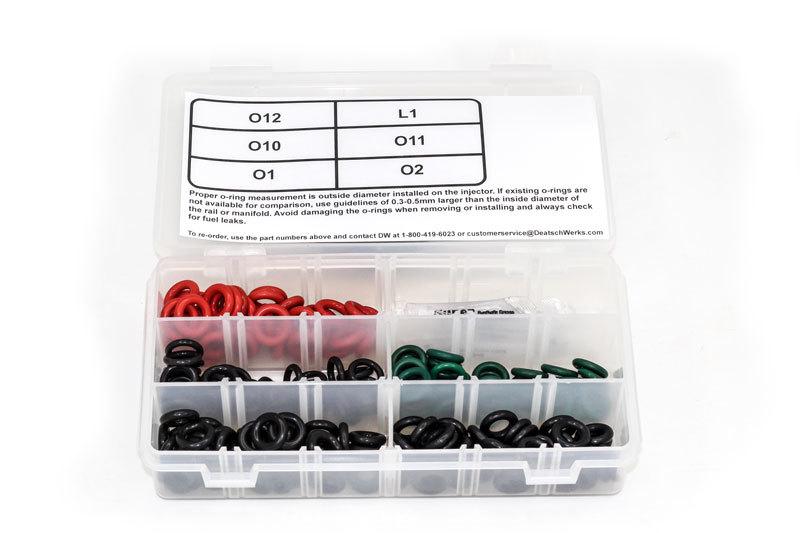 Deatschwerks 2-202 O-Ring, Rubber, Fuel Injectors, Various Applications, Kit