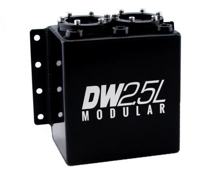 Deatschwerks 6-000-25ST Surge Tank, 2.5 Liter Modular, Aluminum, Black Anodized, Each