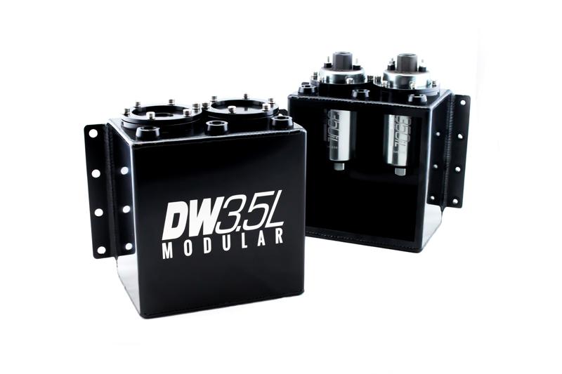 Deatschwerks 6-000-35ST Surge Tank, 3.5 Liter Modular, Aluminum, Black Anodized, Each