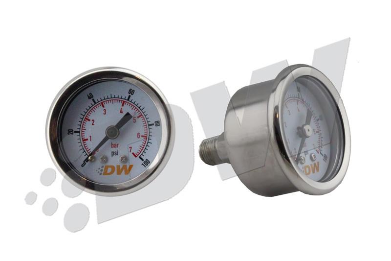 Fuel Pressure Gauge 0-100 psi 1.5in Dia.