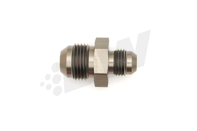 Deatschwerks 6-02-0203 Fitting, Adapter, Straight, 8 AN Male to 6 AN Male, Aluminum, Titanium Anodize, Each
