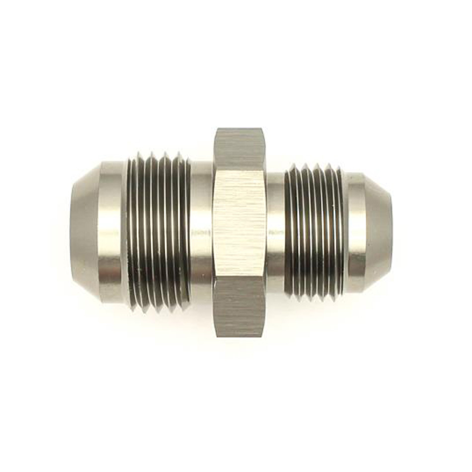 Deatschwerks 6-02-0206 Fitting, Adapter, Straight, 10 AN Male to 8 AN Male, Aluminum, Titanium Anodize, Each