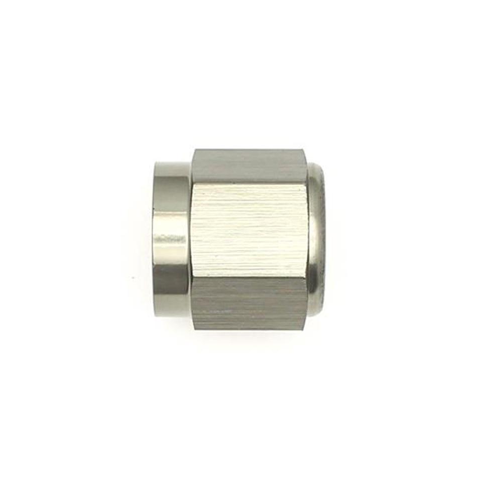 Deatschwerks 6-02-0714 Fitting, Cap, 6 AN, Hex Head, Aluminum, Titanium Anodized, Each