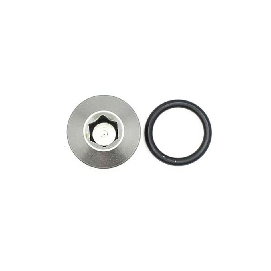 Deatschwerks 6-02-0717 Fitting, Plug, 6 AN O-Ring, Hex Head, Aluminum, Titanium Anodized, Each