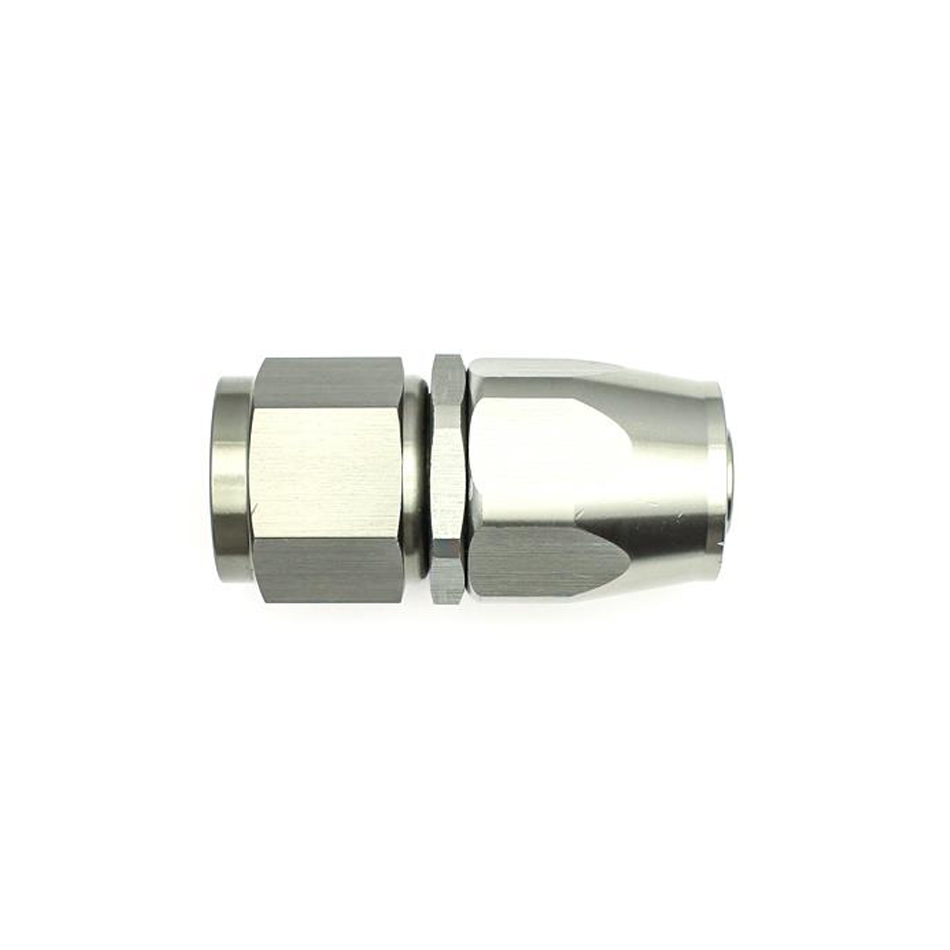 Deatschwerks 6-02-0809 Fitting, Hose End, Straight, 10 AN Hose to 10 AN Female Swivel, Aluminum, Titanium Anodize, Each