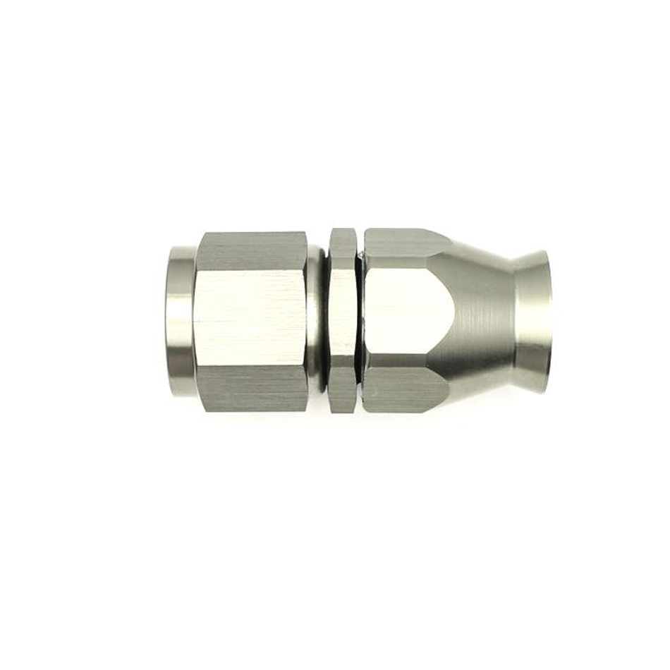 Deatschwerks 6-02-0858 Fitting, Hose End, PTFE Series, Straight, 10 AN Hose to 10 AN Female Swivel, Aluminum, Titanium Anodize, Each