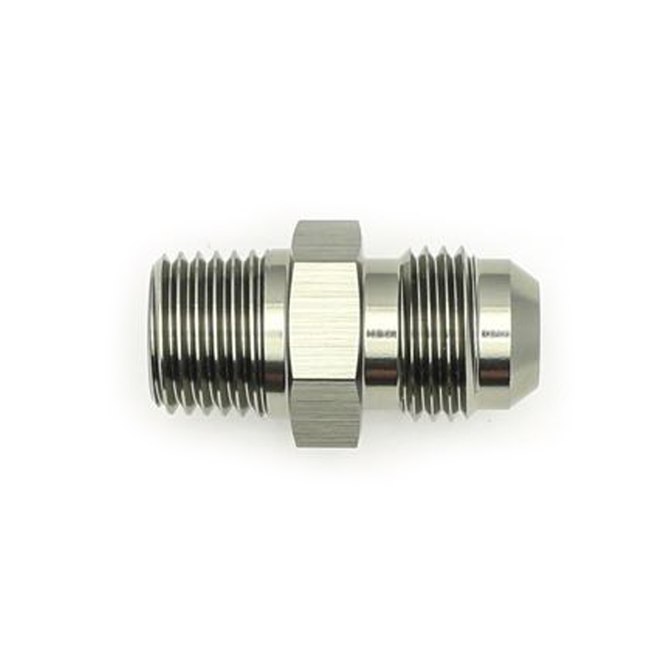 Deatschwerks 6-02-0901 Fitting, Adapter, Straight, 6 AN Male to 1/4 in NPT, Aluminum, Titanium Anodize, Each
