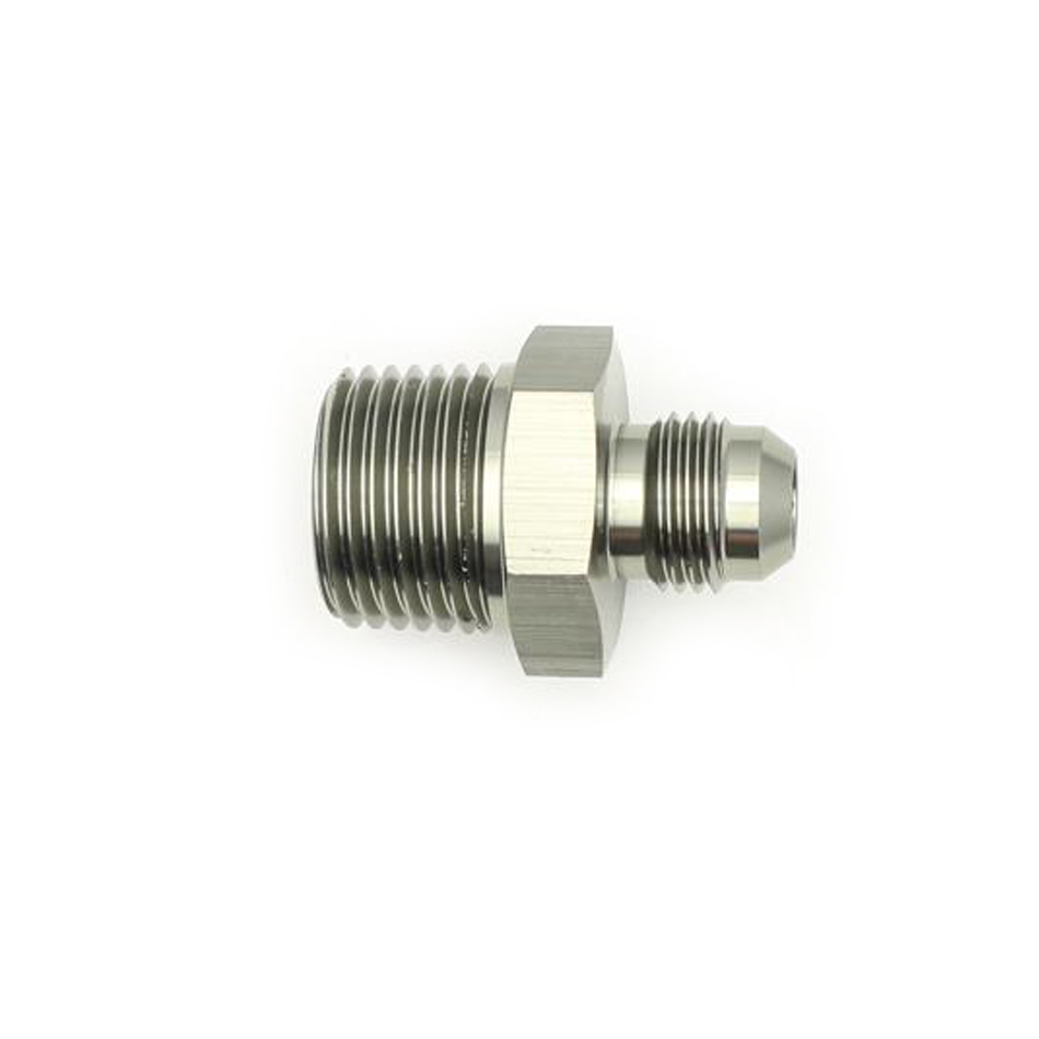 Deatschwerks 6-02-0903 Fitting, Adapter, Straight, 6 AN Male to 1/2 in NPT Male, Aluminum, Titanium Anodize, Each