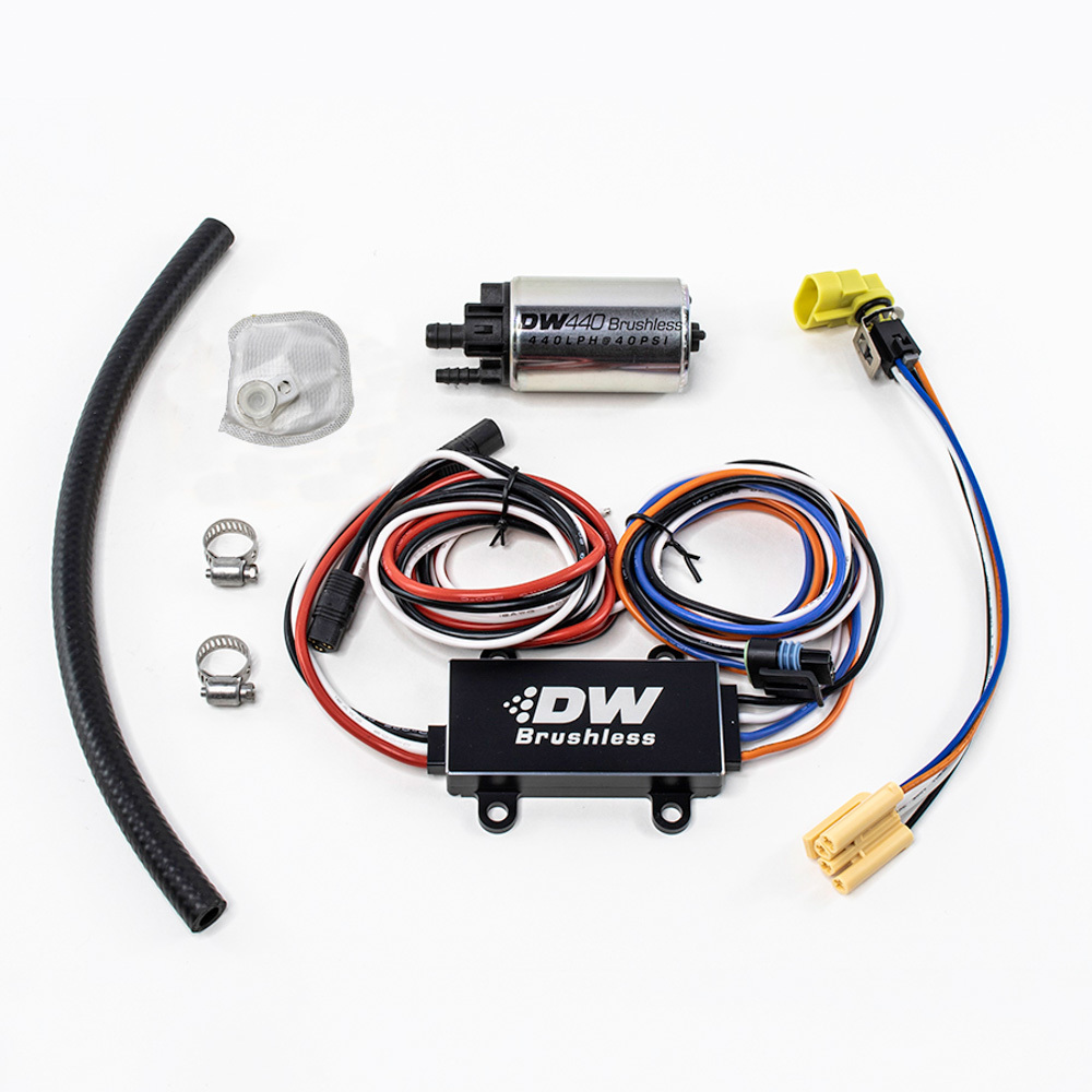 Deatschwerks 9-441-C101-900 Fuel Pump, DW440, Brushless, Single Speed Controller, Electric, In-Tank, 440 lph, Install Kit, Gas / Ethanol / Methanol, Universal, Kit
