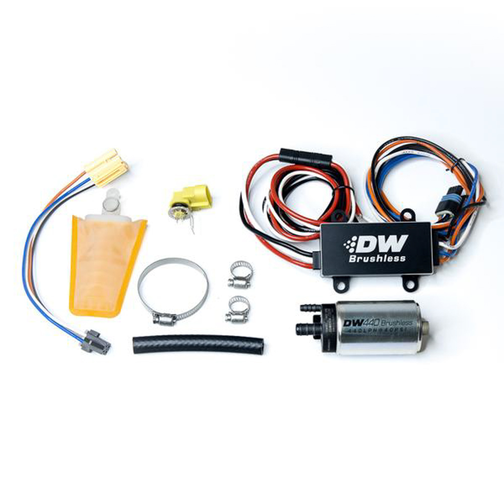 Deatschwerks 9-441-C102-0903 Fuel Pump, DW440, Electric, In-Tank, 440 lph, Install Kit, Gas / Ethanol, Speed Controller Included, Mazda Miata 1989-2005 / Subaru Impreza 1993-2007, Kit