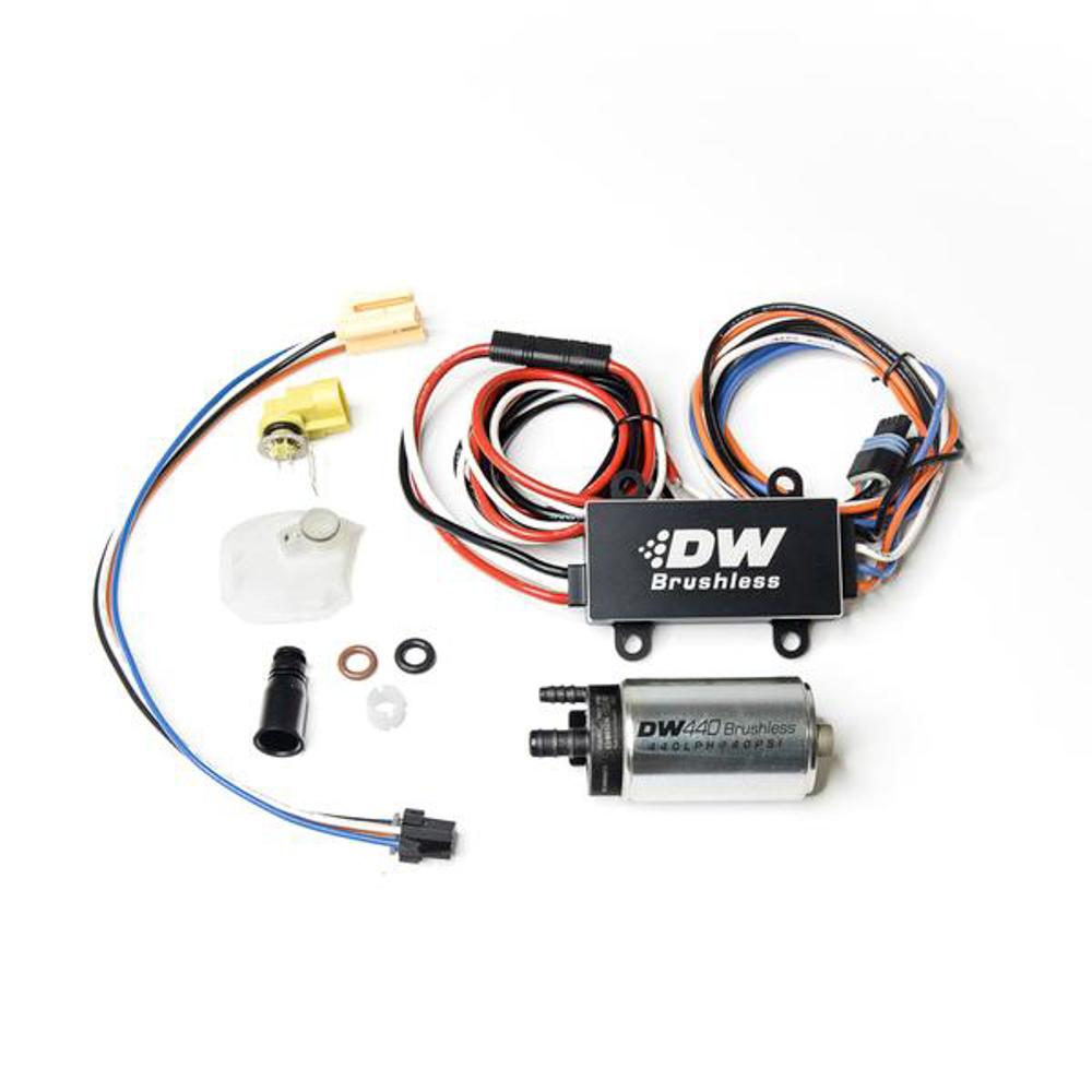 Deatschwerks 9-441-C102-0910 Fuel Pump, DW440, Electric, In-Tank, 440 lph, Install Kit, Gas / Ethanol, Speed Controller Included, Subaru STI 2008-21 / WRX 2008-14, Kit