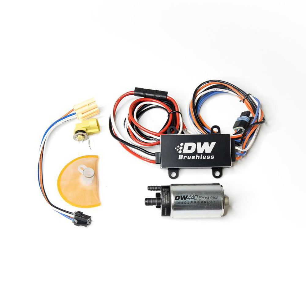 Deatschwerks 9-441-C103-0908 Fuel Pump, DW440, Electric, In-Tank, 440 lph, Install Kit, Gas / Ethanol, Speed Controller Included, Ford Mustang 1999-2004, Kit