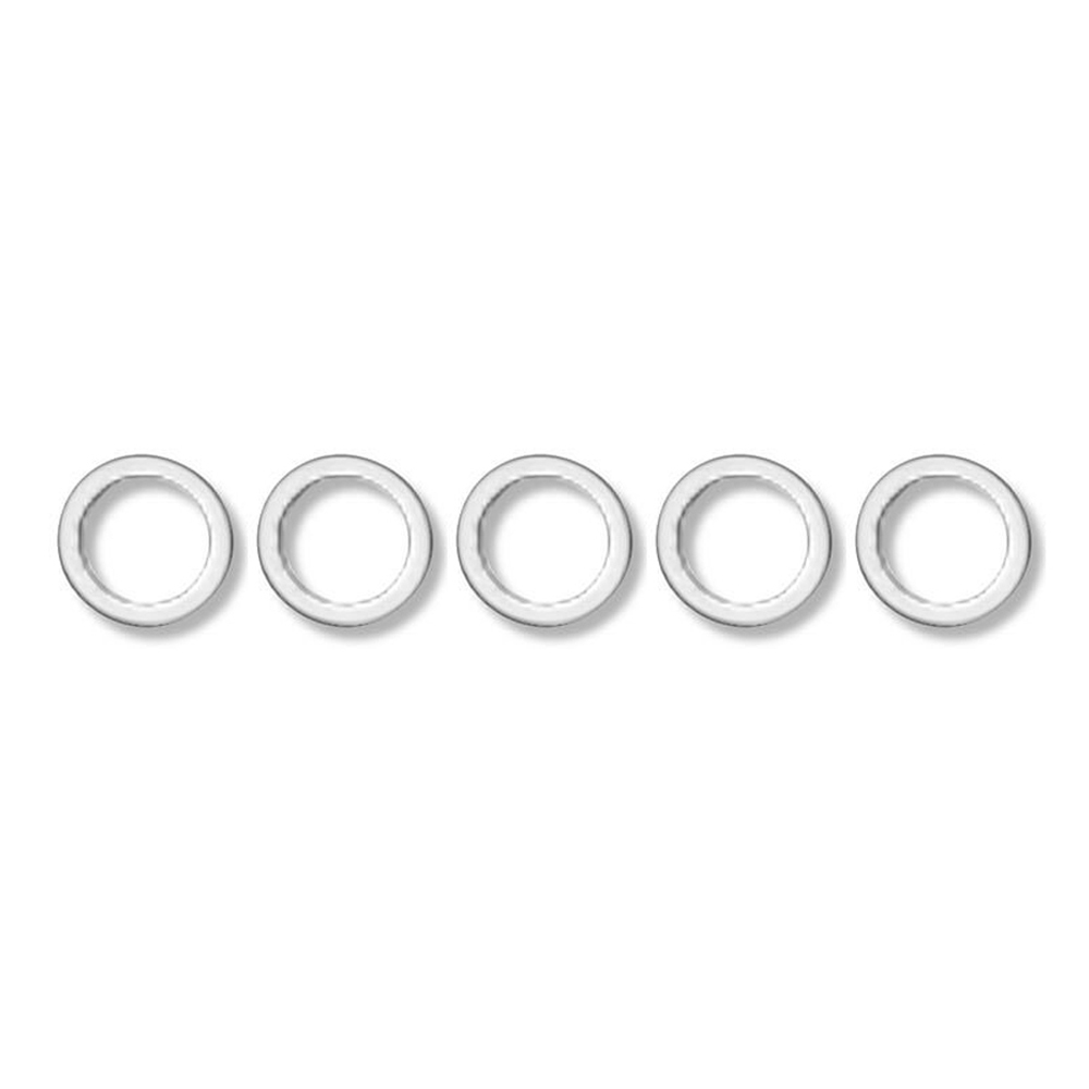 Earls 177010ERL Crush Washer, 10 AN, 7/8 in ID, Aluminum, Set of 5