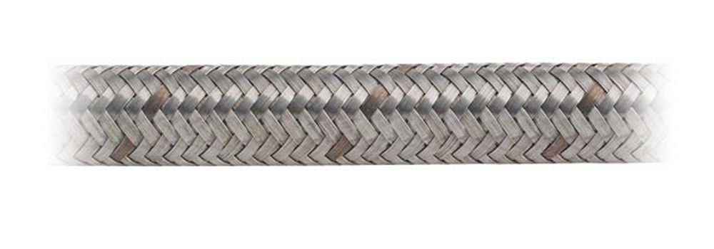 Earls 410010ERL Hose, Perform-O-Flex, 10 AN, 10 ft, Braided Stainless, Rubber, Natural, Each