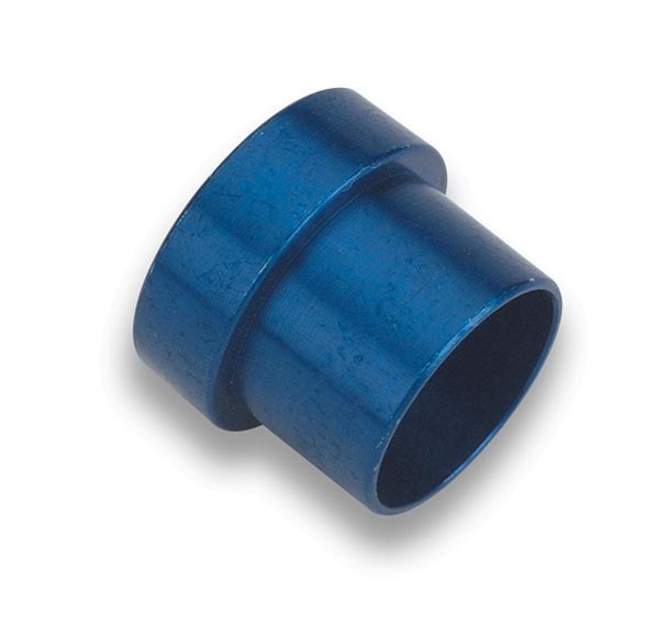Earls 581905ERL Fitting, Tube Sleeve, 5 AN, 5/16 in Tube, Aluminum, Blue Anodize, Pair