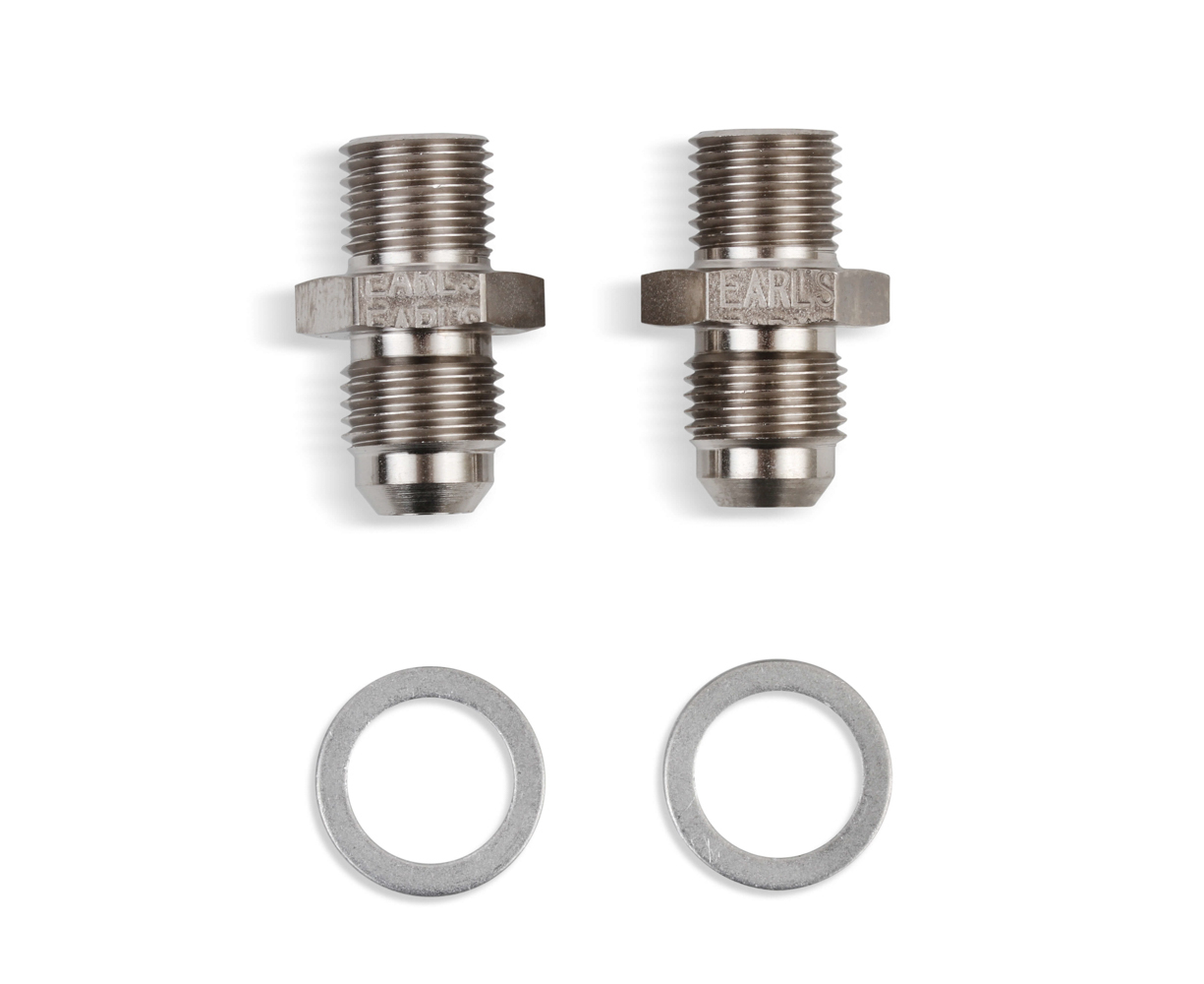 Earls 940006ERL 6an Male to 1/4-18 NPSM Adapter Fittings 2pk