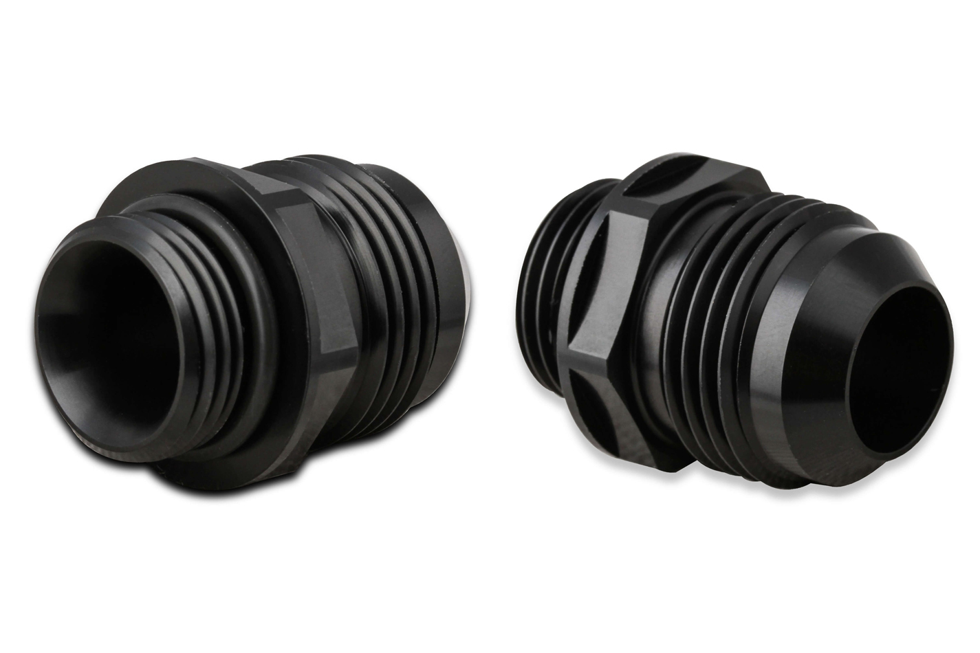 Earls AT585112ERL Fitting, Adapter, Straight, 12 AN Male to 10 AN Male O-Ring, Aluminum, Black Anodize, Pair