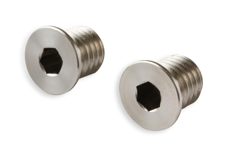 Earls LT0002ERL Fitting, Plug, 12 mm x 1.75 in Thread, Allen Head, Stainless, Natural, Vacuum Pump Delete, GM LT-Series, Pair