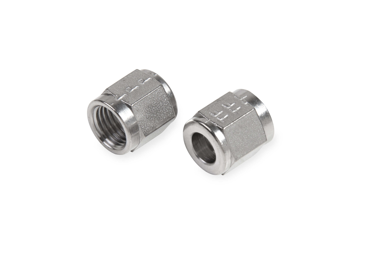 Earls SS581806ERL Fitting, Tube Nut, 6 AN, 5/16 in Tube, Stainless Steel, Natural, Pair