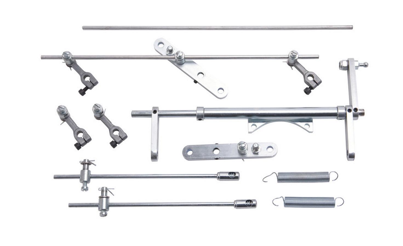 Edelbrock 1031 Throttle Linkage, In-Line, Six 2-Barrel, Steel, Zinc Oxide, Edelbrock 94 Carburetors, Kit