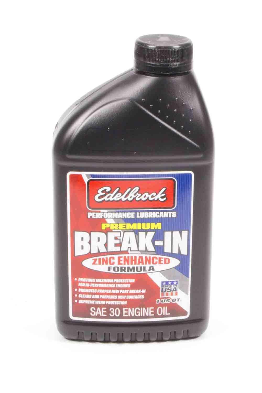Edelbrock 1070 Motor Oil, Break-In, High Zinc, 30W, Conventional, 1 qt Bottle, Each