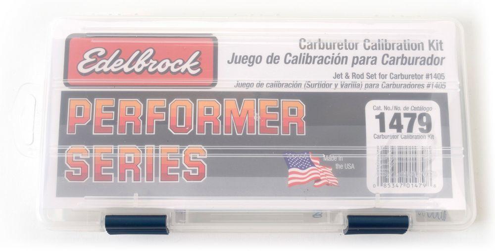 Edelbrock 1479 Carb Calibration Kit, Metering Rods / Metering Jets / Springs / Case, Edelbrock Performer Carburetors, Kit