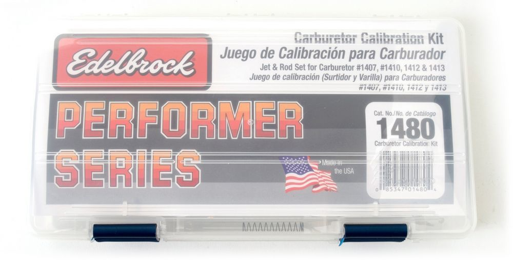Edelbrock 1480 Carb Calibration Kit, Metering Rods/Metering Jets/Springs/Case, Edelbrock Performer Carburetors, Kit