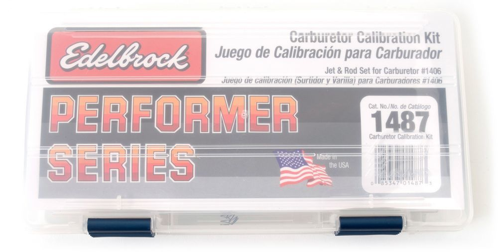Edelbrock 1487 Carb Calibration Kit, Metering Rods/Metering Jets/Springs/Case, Edelbrock Performer Carburetors, Kit