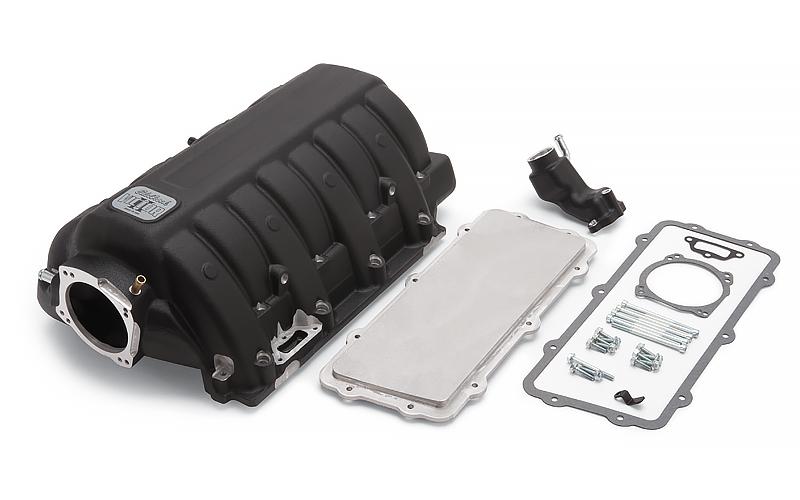 Edelbrock 7179 Intake Manifold, Victor EFI, Throttle Body Flange, Multi Port, Aluminum, Black, Mopar Gen III Hemi, Each