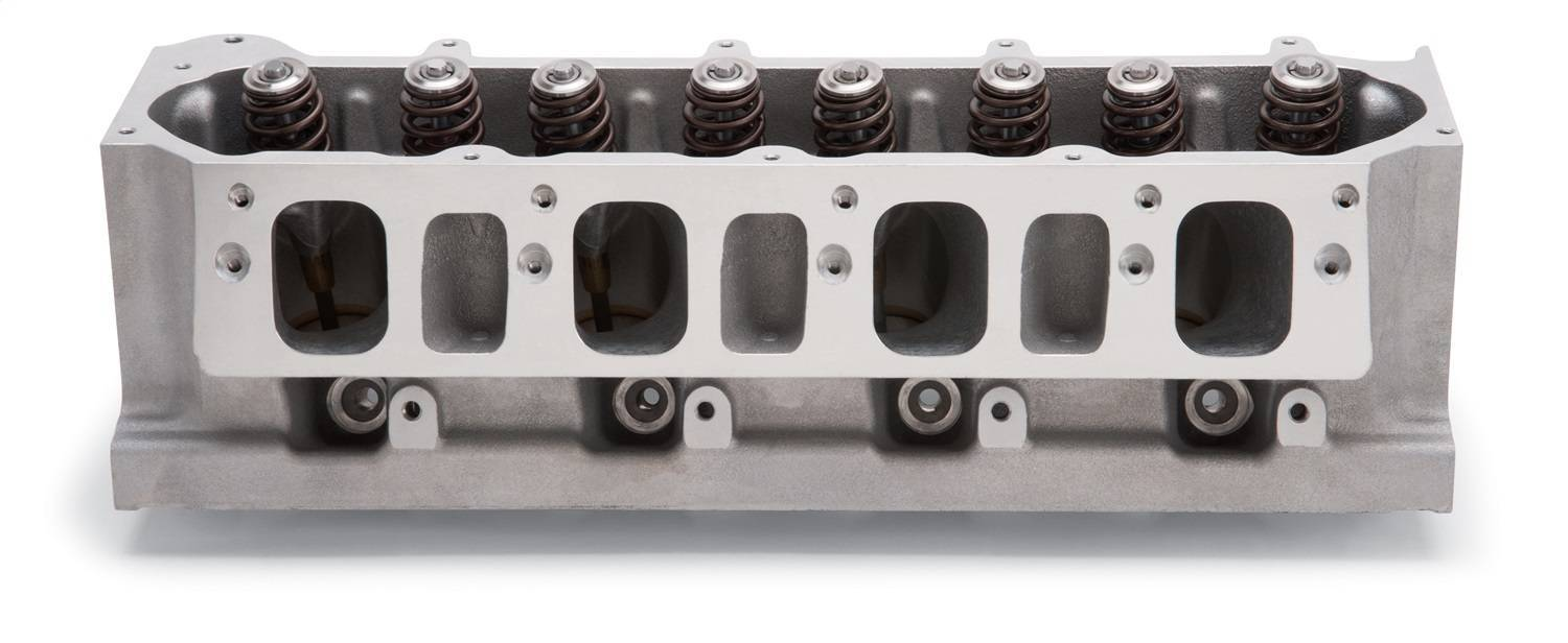 Edelbrock 77139 Cylinder Head, Victor JR., Assembled, 2.200 / 1.600 in Valve, 320 cc Intake, 110 cc Chamber, 1.320 in Springs, Aluminum, GM LT-Series, Each