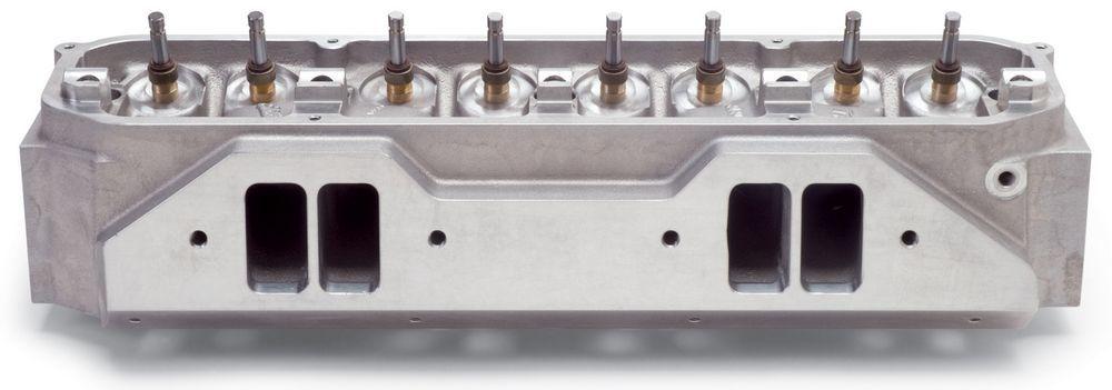 Edelbrock 77929 Cylinder Head, Victor, Bare, 2.200 / 1.810 in Valve, 280 cc Intake, 72 cc Chamber, Aluminum, Valves, Mopar B / RB-Series, Each